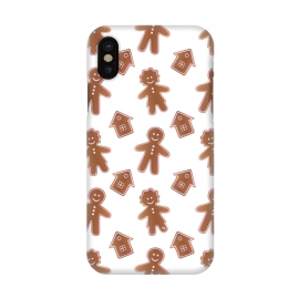 iPhone X  Gingerbread people by Martina (cute,sweet,foot,unisex,xmas,christmas,winter,festive,seasonal,yummy,ginger,gingerbread,gingerbread man,people,pattern)