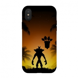 Protector of the island by Denis Orio Ibañez (crash bandicoot,gaming,video games,silhouette)