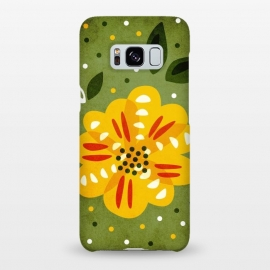Galaxy S8+  Abstract Yellow Spring Flower by Boriana Giormova