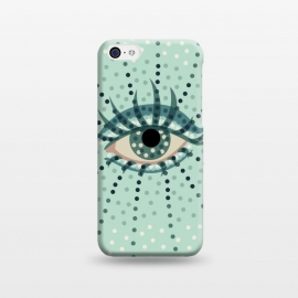 iPhone 5C  Beautiful Abstract Dotted Blue Eye by Boriana Giormova