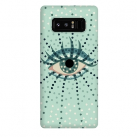 Galaxy Note 8  Beautiful Abstract Dotted Blue Eye by Boriana Giormova