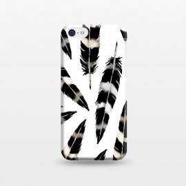 iPhone 5C  Viking Feather by Amaya Brydon (feather,feathers,viking,blackandwhite,nature,pattern,birds,bohemian)