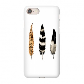 iPhone 8/7  Earth Feather by Amaya Brydon (watercolor,feathers,feather,birds,minimal,nature,illustration)