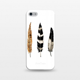 iPhone 5/5E/5s  Earth Feather by Amaya Brydon (watercolor,feathers,feather,birds,minimal,nature,illustration)