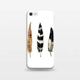 iPhone 5C  Earth Feather by Amaya Brydon (watercolor,feathers,feather,birds,minimal,nature,illustration)