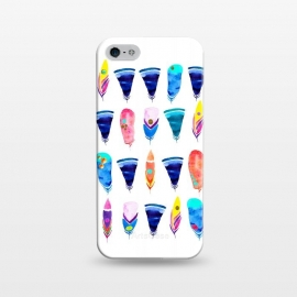 iPhone 5/5E/5s  Candy Feather by  (feather,feathers,candy,color,rainbow,minimal,bohemian)