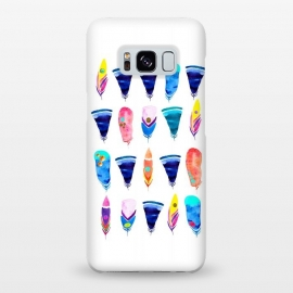 Galaxy S8+  Candy Feather by Amaya Brydon (feather,feathers,candy,color,rainbow,minimal,bohemian)