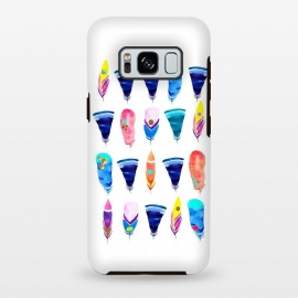 Galaxy S8 plus  Candy Feather by  (feather,feathers,candy,color,rainbow,minimal,bohemian)