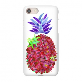 iPhone 8/7  Pineapple Punch by Amaya Brydon (pineapple,watercolor,floral,orchids,flowers,botanical,fruit)