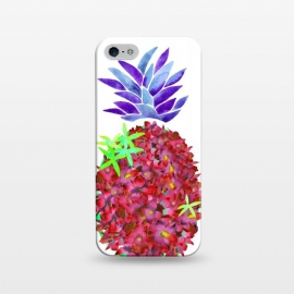 iPhone 5/5E/5s  Pineapple Punch by  (pineapple,watercolor,floral,orchids,flowers,botanical,fruit)
