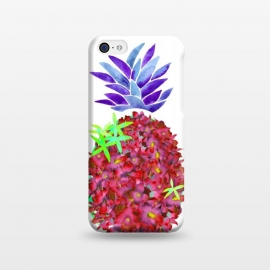 iPhone 5C  Pineapple Punch by Amaya Brydon (pineapple,watercolor,floral,orchids,flowers,botanical,fruit)