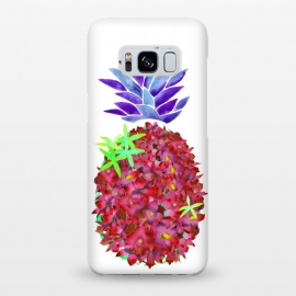 Galaxy S8+  Pineapple Punch by Amaya Brydon (pineapple,watercolor,floral,orchids,flowers,botanical,fruit)