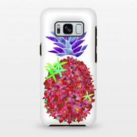 Galaxy S8 plus  Pineapple Punch by  (pineapple,watercolor,floral,orchids,flowers,botanical,fruit)