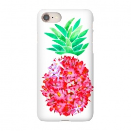 iPhone 8/7  Pineapple Punch Blush by Amaya Brydon (floral,pineapple,watercolor,flowers,illustration,botanical)