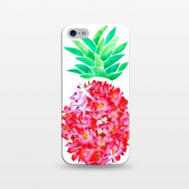 iPhone 5/5E/5s  Pineapple Punch Blush by Amaya Brydon (floral,pineapple,watercolor,flowers,illustration,botanical)
