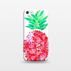 iPhone 5C  Pineapple Punch Blush by Amaya Brydon (floral,pineapple,watercolor,flowers,illustration,botanical)