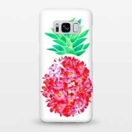 Galaxy S8+  Pineapple Punch Blush by Amaya Brydon (floral,pineapple,watercolor,flowers,illustration,botanical)