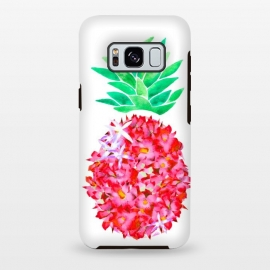 Galaxy S8 plus  Pineapple Punch Blush by  (floral,pineapple,watercolor,flowers,illustration,botanical)