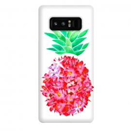Galaxy Note 8  Pineapple Punch Blush by Amaya Brydon (floral,pineapple,watercolor,flowers,illustration,botanical)