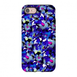 iPhone 8/7  Indigo Floral by Amaya Brydon (floral,nature,botanical,flower,tropical,pattern)