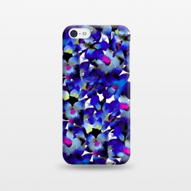 iPhone 5C  Indigo Floral by Amaya Brydon (floral,nature,botanical,flower,tropical,pattern)