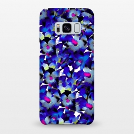 Galaxy S8+  Indigo Floral by Amaya Brydon (floral,nature,botanical,flower,tropical,pattern)