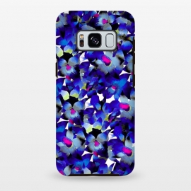 Galaxy S8 plus  Indigo Floral by  (floral,nature,botanical,flower,tropical,pattern)