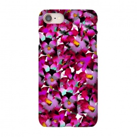 iPhone 8/7  Pink Floral by Amaya Brydon (floral,pink,botanical,flowers,tropical,pattern,magenta)