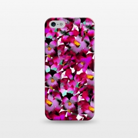iPhone 5/5E/5s  Pink Floral by Amaya Brydon (floral,pink,botanical,flowers,tropical,pattern,magenta)