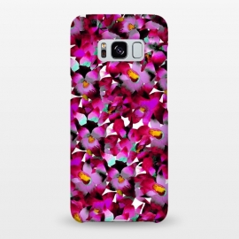 Galaxy S8+  Pink Floral by Amaya Brydon (floral,pink,botanical,flowers,tropical,pattern,magenta)
