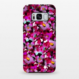 Galaxy S8 plus  Pink Floral by  (floral,pink,botanical,flowers,tropical,pattern,magenta)