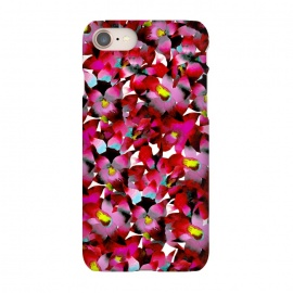 iPhone 8/7  Red Floral by Amaya Brydon (red,pink,floral,botanical,flowers,tropical,pattern)