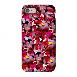 iPhone 8/7  Red Floral by Amaya Brydon