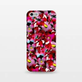iPhone 5/5E/5s  Red Floral by Amaya Brydon (red,pink,floral,botanical,flowers,tropical,pattern)