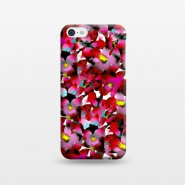iPhone 5C  Red Floral by Amaya Brydon (red,pink,floral,botanical,flowers,tropical,pattern)