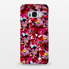 Galaxy S8+  Red Floral by Amaya Brydon (red,pink,floral,botanical,flowers,tropical,pattern)