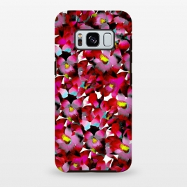 Red Floral by Amaya Brydon (red,pink,floral,botanical,flowers,tropical,pattern)