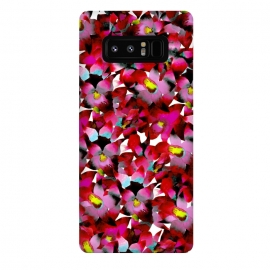 Galaxy Note 8  Red Floral by Amaya Brydon (red,pink,floral,botanical,flowers,tropical,pattern)