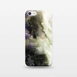 iPhone 5C  Vanilla Storm by Amaya Brydon (storm,watercolor,winter,abstract,stars,sky,cosmic)
