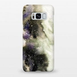 Galaxy S8+  Vanilla Storm by Amaya Brydon (storm,watercolor,winter,abstract,stars,sky,cosmic)