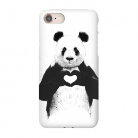 iPhone 8/7  All you need is love by Balazs Solti (heart,black and white,panda)