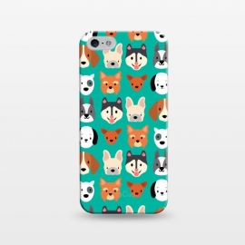 iPhone 5/5E/5s  Dog faces pattern by Maria Jose Da Luz (dogs,breeds,pets,cute)