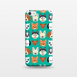 iPhone 5C  Dog faces pattern by Maria Jose Da Luz (dogs,breeds,pets,cute)