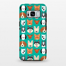 Galaxy S8+  Dog faces pattern by Maria Jose Da Luz