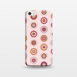 iPhone 5C  Polka Dot Mandala Flowers by Paula Ohreen