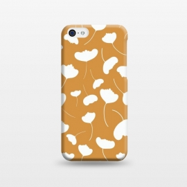 iPhone 5C  Fan Flowers on Mustard by Paula Ohreen