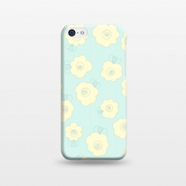 iPhone 5C  Blue Fluffy Flowers by Paula Ohreen