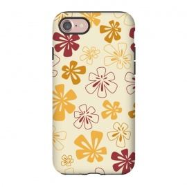 iPhone 8/7  Gold Funky Flowers by Paula Ohreen
