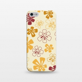 iPhone 5/5E/5s  Gold Funky Flowers by Paula Ohreen