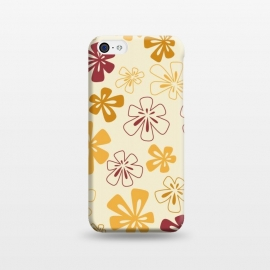 iPhone 5C  Gold Funky Flowers by Paula Ohreen